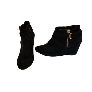 Mossimo Black Suede Ankle Boots, 8